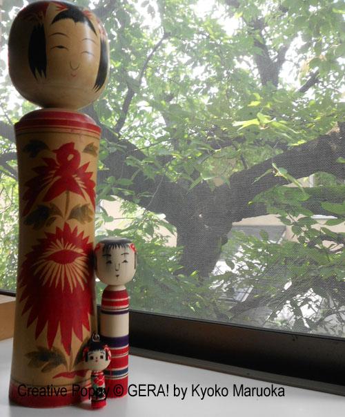 la grande kokeshi ancienne de plus de 45 cm de haut