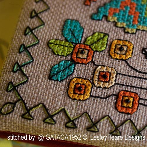 Lesley Teare - Petifs motifs de Blackwork aux papillons (grille de broderie)