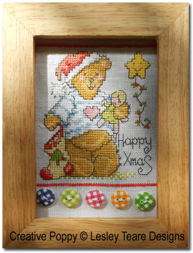 Accessories and embellishments used for framing the Cute Christmas Teddy cards - case 4