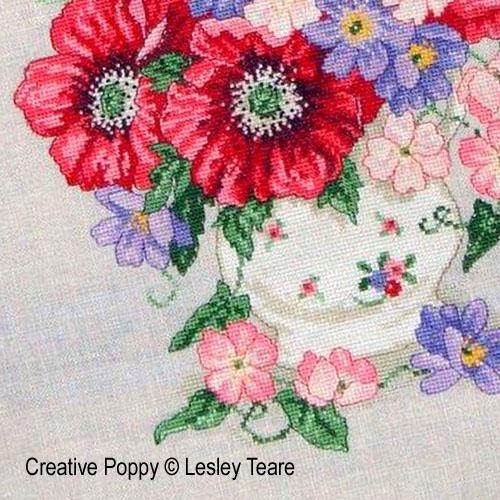 Modèles de broderie avec Fleurs et bouquets, création Lesley Teare