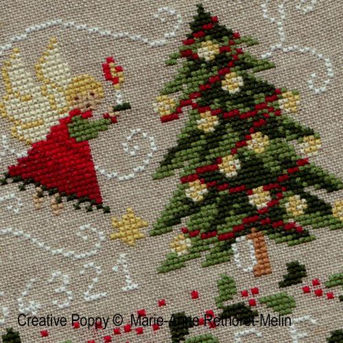 Modèles à broder sur le thème avec des arbres de Noël
