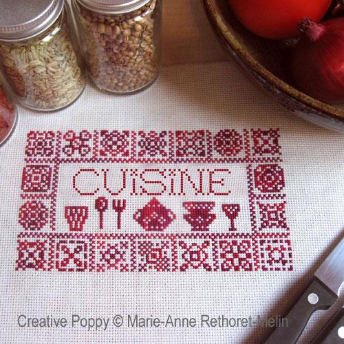 Creative Poppy - Broderies point de croix pour la cuisine