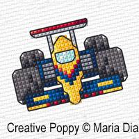 Maria Diaz - Mini Motifs Transports (1), zoom 1 (grille de broderie point de croix)
