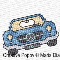 Maria Diaz - Mini Motifs Transports (1), zoom 2 (grille de broderie point de croix)