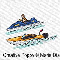 Maria Diaz - Mini Motifs Transports (2), zoom 1 (grille de broderie point de croix)
