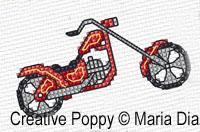 Maria Diaz - Mini Motifs Transports (2), zoom 2 (grille de broderie point de croix)