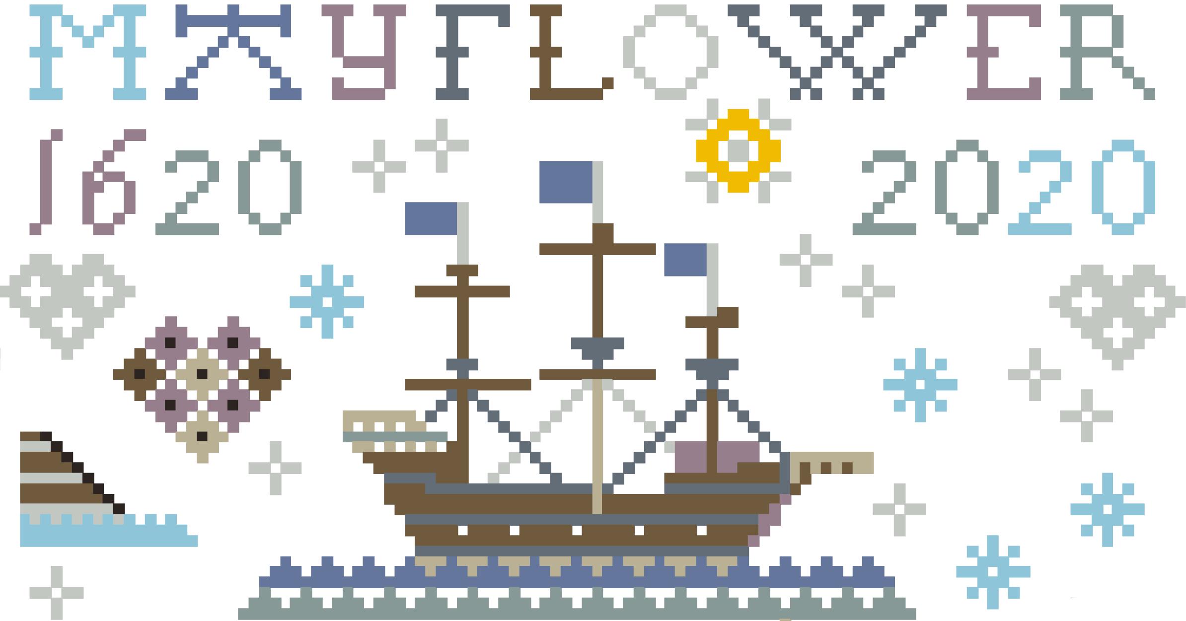 Le Mayflower, vaisseau marchand à 4 mats, transportant 102 passagers et l'équipage