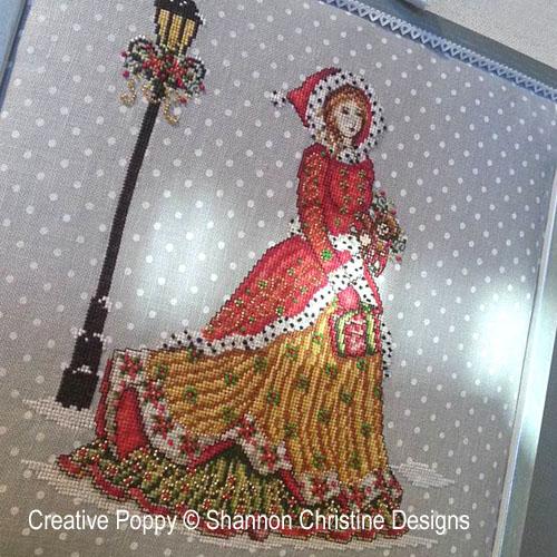 grille de point de croix  Lady Victorienne de Shannon Christine Wasilieff , brodé sur une toile de lin préimprimée
