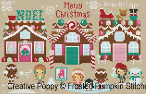 maisons en pain d'épice proposées par Amanda et Asleigh de Frosted Pumpkin Stitchery
