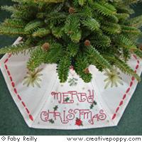 """""""Jupe"""" pour pied de sapin de Noël, création Faby Reilly"""