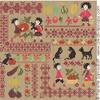 Sampler mini-motifs: la récolte, (grand modèle) création Perrette Samouiloff