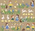 Perrette Samouiloff - Les petits poussins, grille de point de croix compté