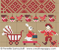 Sampler mini motifs Noël, créations Perrette Samouiloff (déatil3)