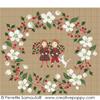 Couronne Noël en blanc, créations Perrette Samouiloff