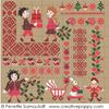 Sampler mini motifs Noël, créations Perrette Samouiloff