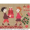 Sampler mini motifs Noël, créations Perrette Samouiloff (détail)