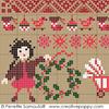 Sampler mini motifs Noël, créations Perrette Samouiloff (détail2)