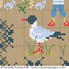 Sampler mini motifs Mer- petit modèle, une création Perrette Samouiloff (détail)