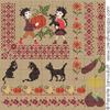 Sampler mini-motifs la récolte, (petit modèle) création  Perrette Samouiloff