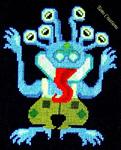Tam's Creations - le monstre aux yeux verts - grille de point de croix