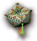 Miniature tassels for finishing and customizing your cross stitch ornaments