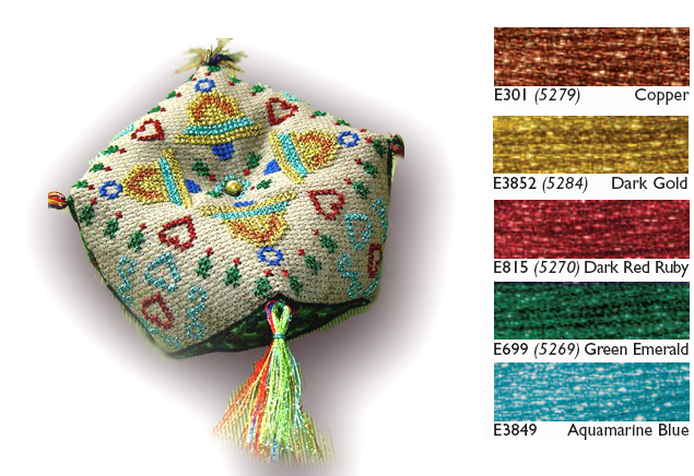 Tam's Creations Xmas biscornu pattern series