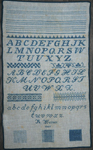 Muriel Brunet - R. Werner reproduction sampler dated 1907