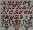 Maria Braillon reproduction sampler - 1877, France - From the Muriel Brunet Collection