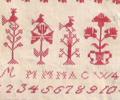 Muriel Brunet -  marquoir ancien datant de 1841 avec 19 arbres de vie