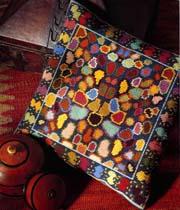 Coussin tapisserie - Demi-point