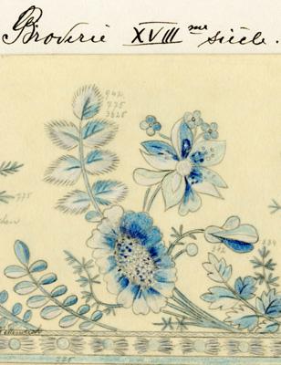 Deux autres planches de broderie du 18ème siècle (2)