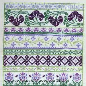 La note de coeur - Evocation d'un parfum - grille point de croix - création Gracewood Stitches