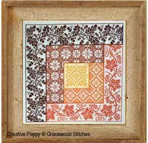 Gracewood Stitches - Motif Log Cabin