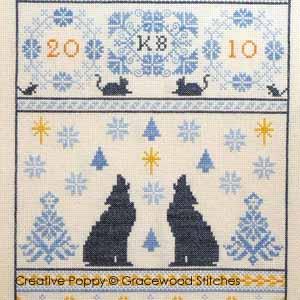 <b>Nuits nordiques</b><br>grille point de croix<br>création <b>Gracewood Stitches</b>