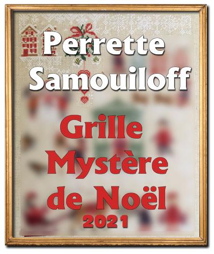 Grille mystère de Noël 2021, grille de broderie, création Perrette Samouiloff