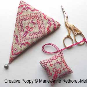 Marie-Anne Réthoret-Mélin - Accessoires de brodeuse aux mini ciseaux (grille de point de croix)