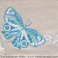 <b>Les papillons, Drap de bain</b><br>grille point de croix<br>création <b>Marie-Anne Réthoret-Mélin</b>