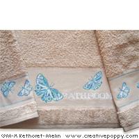 Les papillons - motif pour alphabet et gant de toilette