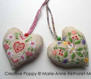 Marie-Anne Réthoret-Mélin - Coeurs montagnards (grille de point de croix)
