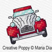 Mini motifs point de croix, grille de broderie, création Maria Diaz