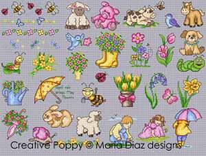 Maria Diaz - Mini motifs de printemps (grille de point de croix)