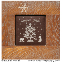 <b>Joyeux Noël</b><br>grille point de croix<br>création <b>Muriel Berceville</b>