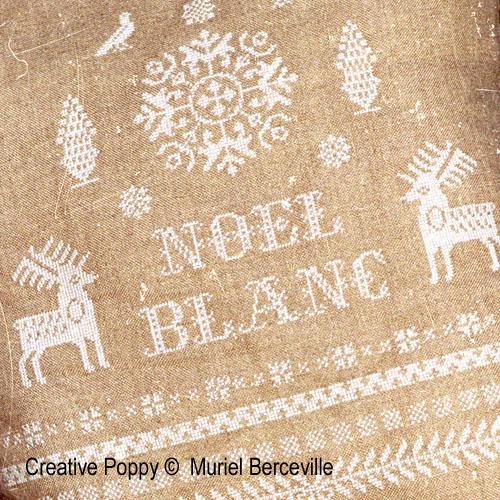 Noël Blanc, grille de broderie, création Muriel Berceville