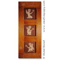 Angelots aux flocons - grille point de croix - création Muriel Berceville