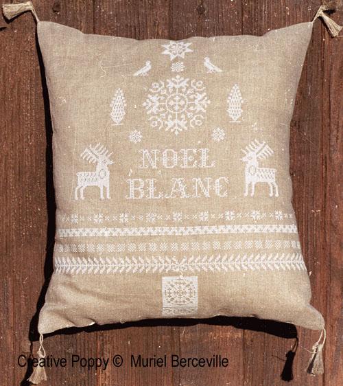 Noël Blanc - grille point de croix - création Muriel Berceville