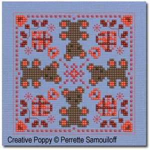Nouveaux carrés à broder pour ornements de Noël