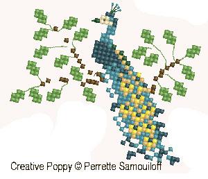 <b>Bébé au zoo (grand modèle)</b><br>grille point de croix<br>création <b>Perrette Samouiloff</b>
