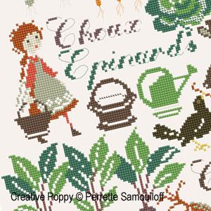 <b>Potager d'automne</b><br>grille point de croix<br>création <b>Perrette Samouiloff</b>