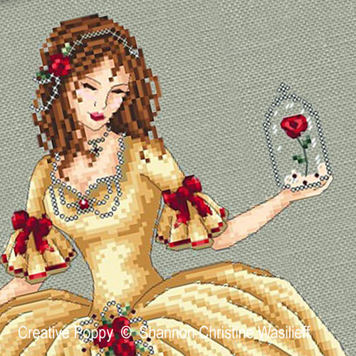 Belle, grille de broderie, création Shannon Christine Wasilieff
