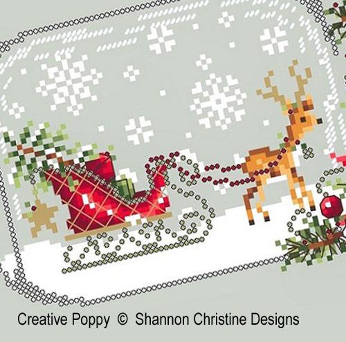 Shannon Christine Wasilieff - Boule à neige - au traineau, zoom 1 (grille de broderie point de croix)